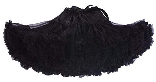 LIUWEI Enaguas Vestido de bola Desordina Vestido corto Vestido corto Petipoat Ballet Tutu Falda (Color : Black, Size : XL is Adult Size)