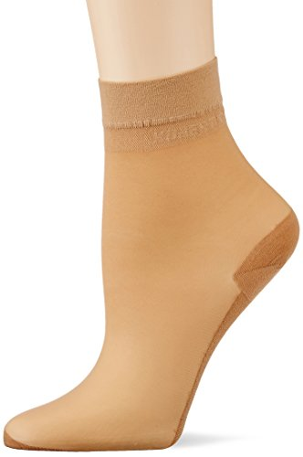 KUNERT Damen Cotton Sole Socken, 20 DEN, Beige (Puder 3550), 35/38