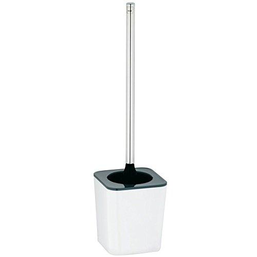 kela 22593 Set WC Nuria en Plastique Blanc/Gris, 11,5 x 11,5 x 46,5 cm