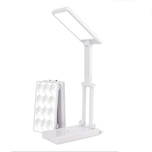 Lámpara de Escritorio Led Lámpara de escritorio de la protección de ojo, que dobla la lámpara LED, recargable plug-in de doble finalidad de la lámpara de cabecera, interruptor del tacto, for el estudi
