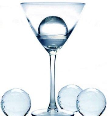 "4 Prepara Xl 2"" Diameter Round Ice Ball Sphere SET of 4 Cube Tray Cocktails"