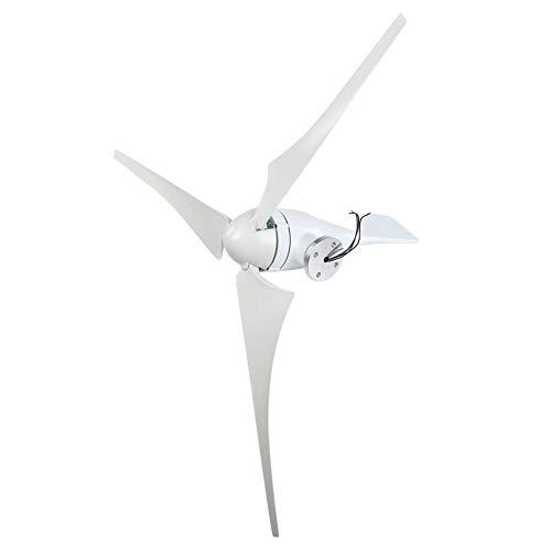 Generador de viento, generador de turbina de viento 100W 12V/24V 3PCS 580mm Palas de viento de fibra de nylon Molino de energía para sistema híbrido solar eólico, kit de generador de viento(12V)