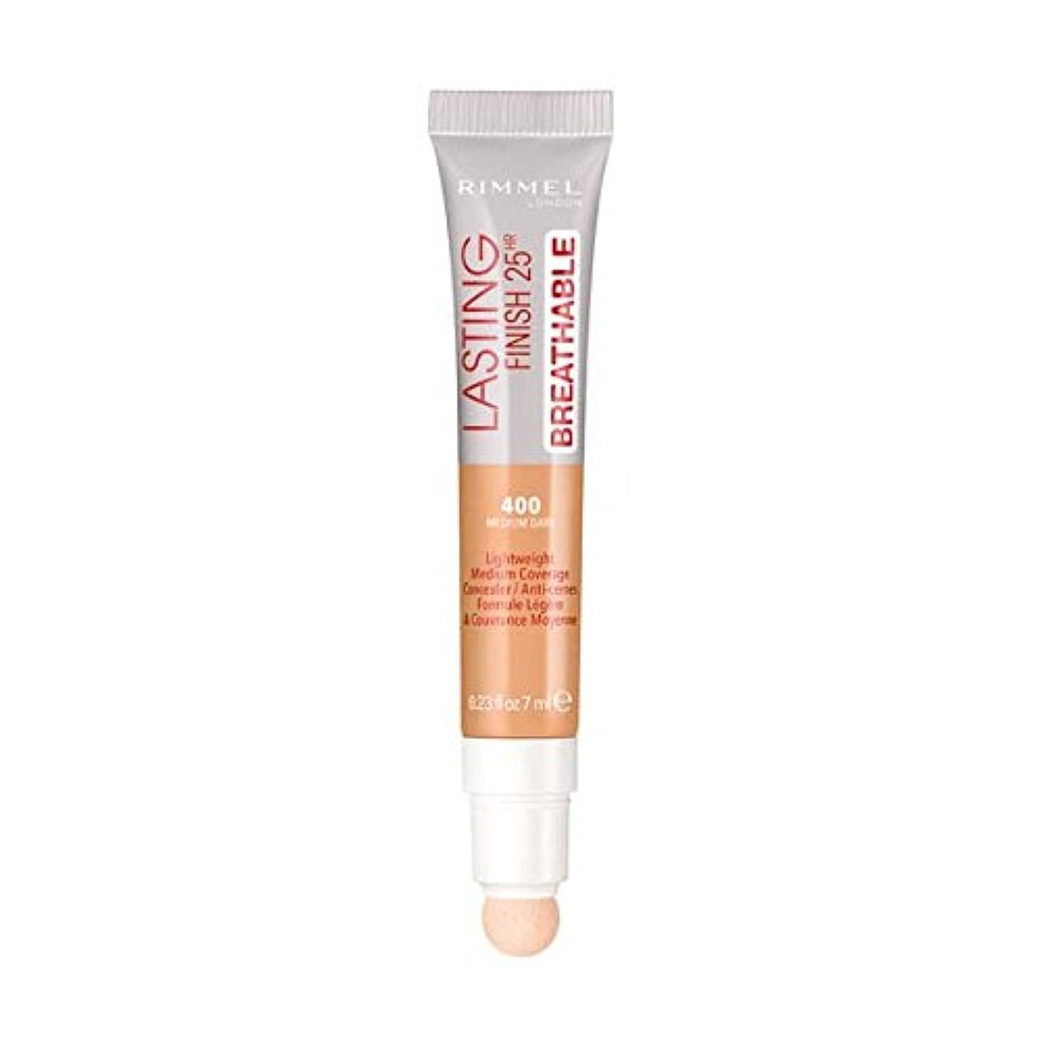 気怠い火山学言語(3 Pack) RIMMEL LONDON Lasting Finish Breathable Concealer - Medium Dark (並行輸入品)