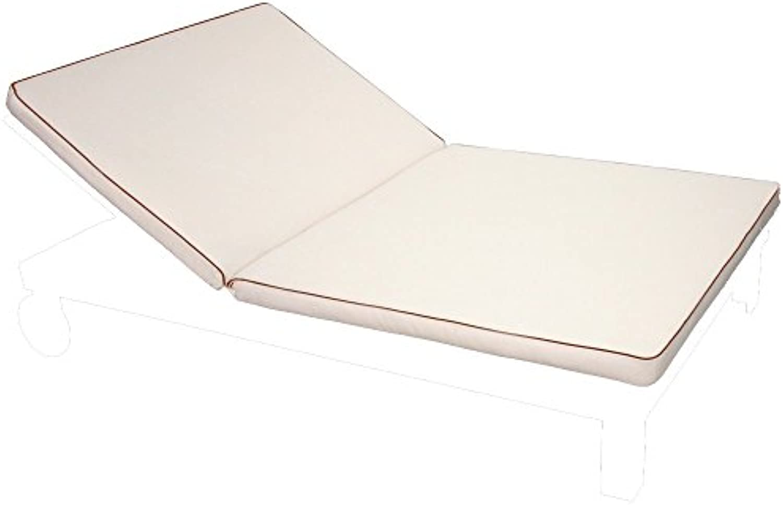 Auflage für Doppel-Liege Rio 200x120x8cm creme Polyester waschbar