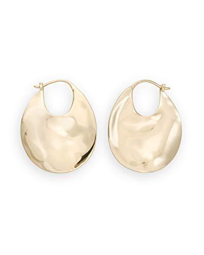 Rosefield Damen Ohrringe The Iggy Gold 2,5 * 2,8cm Durchmesser Strukturierte Kreolen - JTXHG-J090