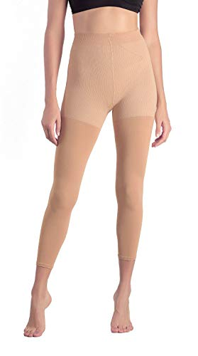 +MD 15-20mmHg Women's Footless Compression Pantyhose Tights Medical Quality Support Stocking Nudes