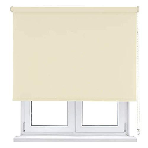 Unishop Estor Enrollable Translúcido Liso, Fácil Instalación, Estor para Ventanas y Puertas (Amarillo, 135*180cm)
