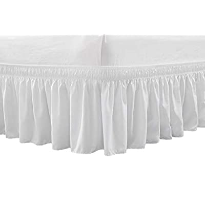 RIMELA Bed Skirt Wrap Around Elastic Dust Ruffles Solid