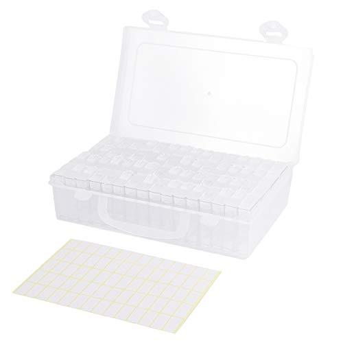 TOOGOO 64 Celosías Caja de Almacenamiento de Plástico Ajustable Caja de Almacenamiento...