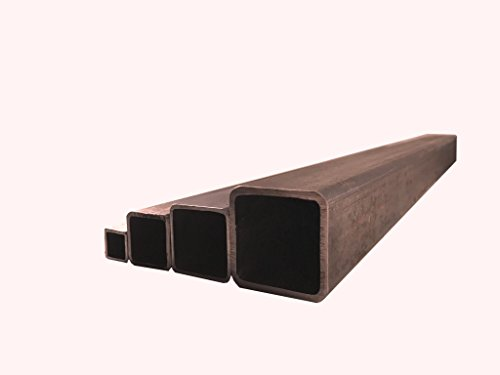 Quadratrohr 15x15x1,5mm bis 100x100x3mm Stahlrohr Hohlprofil Stahl Vierkantrohr Quadrat Rohr Wunschlänge möglich (40x40x3mm (Länge 1000mm))