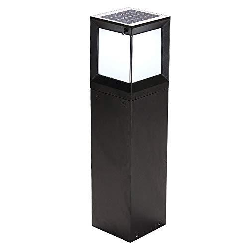 Lantaarn op zonne-energie, led, waterdicht IP65, buitenlamp, post, 2 kleurlicht/gegoten aluminium, vijver, signaallamp, lichtslang [energieklasse A ++]