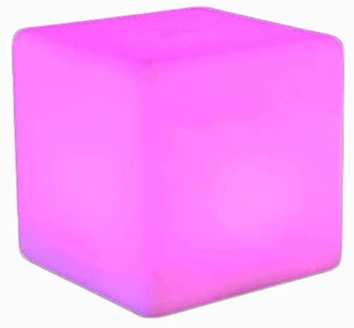 Paddia Luz de noche LED cuadrada creativa Control remoto LED Cubos de humor cambiantes de colores Lámpara de noche Cubo LED Luz de taburete Luz de resplandor recargable Barra de hogar Jardín Decoració