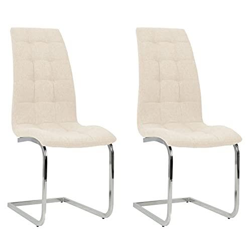 Gawany 2X Freischwinger Esszimmerstuhl Schwingstuhl Küchenstuhl Essstuhl Stuhl Set Stühle Polsterstuhl Wohnzimmerstuhl Esszimmerstühle...