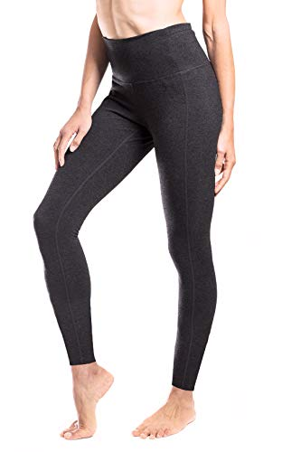 "Yogipace Extra Tall Women's 34"" High Waisted Barre Leggings Extra Long Yoga Leggings Workout Active Pants Charcoal Size XS"