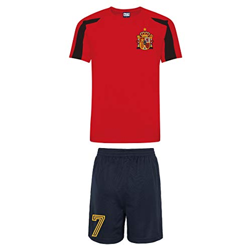 Print Me A Shirt Kit del Equipo de España Personalizable con Camiseta de Futbol y Pantalones Corto.