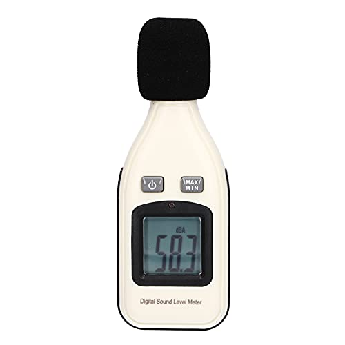 Agatige Medidor de decibelios Digital, Dispositivo de medición de Ruido de Audio, Lector de Nivel de presión Sonora, probador de Ruidos con Pantalla LCD