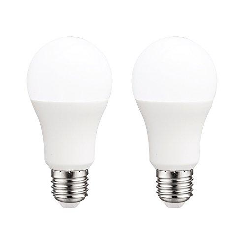 Pack 2x Bombillas estándar LED E27 10W luz neutra (4200K) 806 Lm.