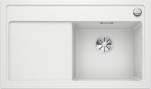 Blanco stoomkoker 6 S SILGRANIT PuraDur met afloopbediening 45 cm onderkast - wastafel rechts Holzschneidbrett wit