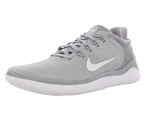 Nike Free Rn 2018, Zapatillas de Running para Mujer, Gris (Wolf Grey/White/White/Volt 003), 36 EU