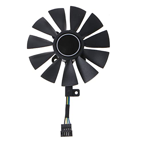 Qirun Ventilador de refrigeración de tarjeta gráfica de 88MM FDC10U12S9-C para receptores, amplificadores, DVR, componentes de gabinete AV