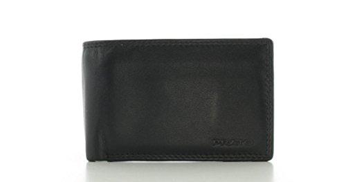 Prato Minischein Geldbörse A58 Schwarz Multi
