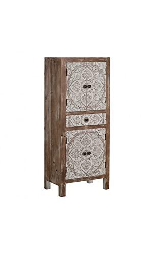IXIA - Armadio in legno con motivo a 1 cassetto, 4 ante