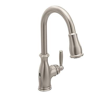 Moen Brantford Motionsense Wave Touchless One-Handle Pulldown Kitchen Faucet Featuring Reflex, Spot Resist Stainless (7185EWSRS)
