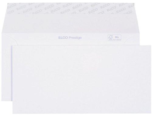 Elco 42786 Prestige Briefumschlag, Dinlang, 120 g, weiß