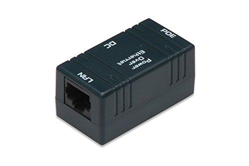 DIGITUS passiver PoE-Injektor - Fast Ethernet - DC-Buchse für 5.5mm Stromstecker - Ohne Stecker-Netzteil