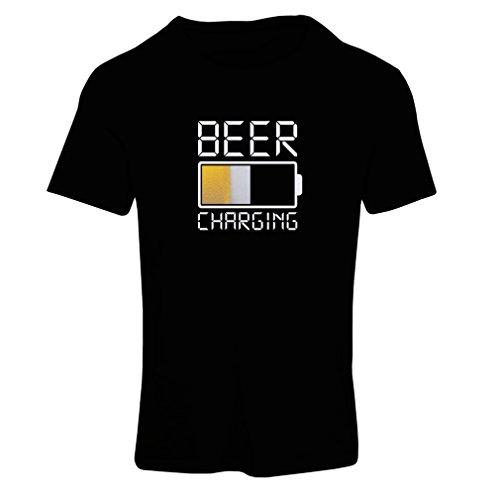 lepni.me Camiseta Mujer Carga de Cerveza, Citas Divertidas, Humor de Bar para Amantes de la Cerveza (Large Negro Multicolor)