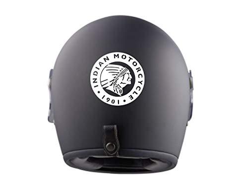 myrockshirt 2X Indian Motorcycle Logo Typ2 Helmaufkleber Helm Motorrad Aufkleber Sticker Decal Profi-Qualität ohne Hintergrund Bike Tuning