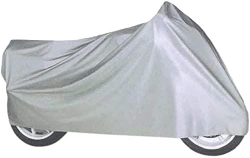 Funda para Moto, Cubierta, Impermeable, Protector, Tela Cubre Moto, Tela Aislante, plástico Cubre Motocicleta, Funda Exterior, protección contra la Lluvia, Nieve, Humedad, Suciedad 240X140CM Talla :XL