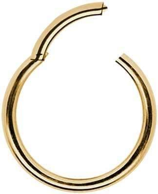 Ringe Clicker 585er Echtgold Goldpiercing Piercing Klicker Clicker Nasenring Echt 585 Gold Durchmesser 8 mm Intim Tragus Helix Septum modisch extravagant exklusiv Stärke 1.2mm