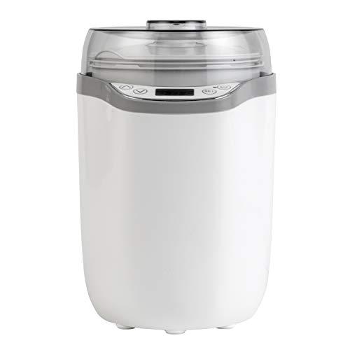 Yogurtera y quesera EK4374PVDEEU7 de Progress® con enchufe europeo | 1,6 l | Colador incluido | Pantalla LED | 25 W