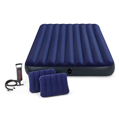 SHGK Roll Mats Unisex Outdoor Queen Deluxe Almohada Descanso Air Bed Colchón de Aire Disponible Tamaño 152 Cm X 203 Cm X 22cm Dos Almohadas y Bomba de Mano