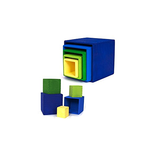 Grimm's kleiner Kistensatz bunt aussen blau - 2