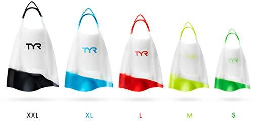 TYR Hydroblade Fins, Clear, M