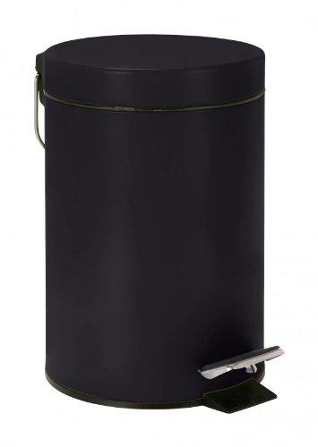PEGANE Poubelle à pédale Noir (capacité : 3 litres)