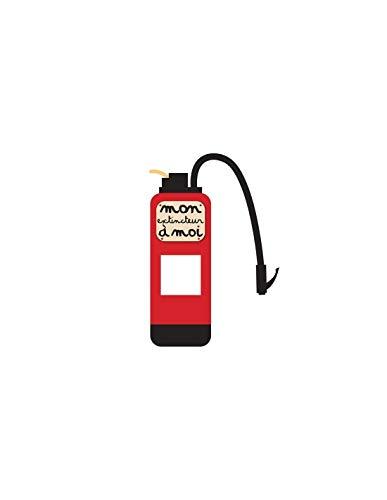 Decopio sticker voor stopcontact of schakelaar, brandblusser