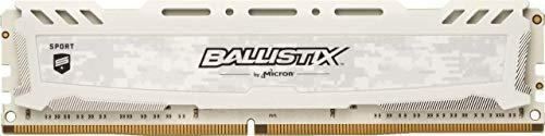 Crucial Ballistix Sport LT BLS16G4D30AESC 3000 MHz, DDR4, DRAM, Desktop Gaming Speicher, 16GB, CL15 (Weiß) (Generalüberholt)