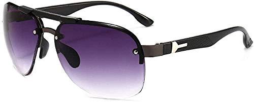 Gafas de sol hombre sombrilla rana espejo marco grande montar gafas de sol