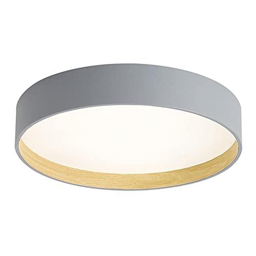 Luz de Techo LED, iluminación Circular Moderna, Metal Gris, Adecuado para Uso en el Dormitorio y la Sala de Estar, 40 cm / 50cm (Size : 50cm)