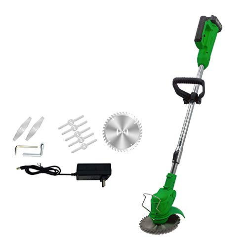 NICCOO 21V Cordless String Trimmer/Edger, Handheld Trimmer, Grass Shear Electric, Lawn Trimmer, Trimmer Cutter, Perfect for Leaves & Debris (3.0Ah Li-Ion Battery and Charger), Green