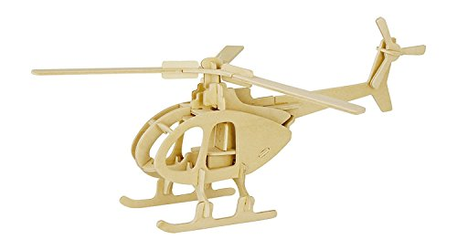 3D Wooden Puzzle Helicopter Model Creative Puzzle Model Kits DIY Toys 32-Piece Build Car Kit