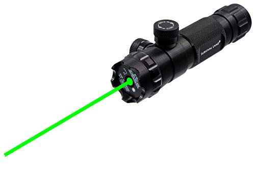"Survival Land LS-300 Shockproof 532nm Tactical Green Laser Sight, Rifle Gun Scope – Includes 20mm Picatinny Rail, 1"" Barrel Mounts and Remote Pressure Switch"