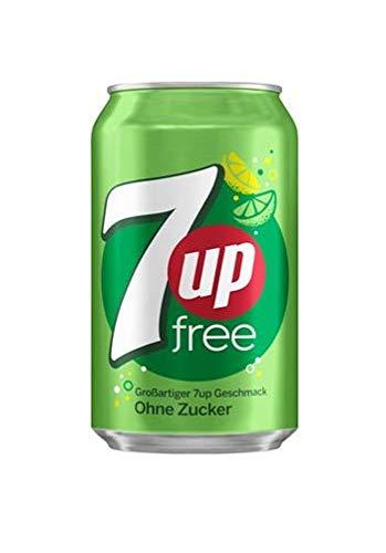 3 x 24 7UP Seven Up FREE Zuckerfrei (72 Einweg-Dosen x 0,33L) inkl. gratis FiveStar Kugelschreiber