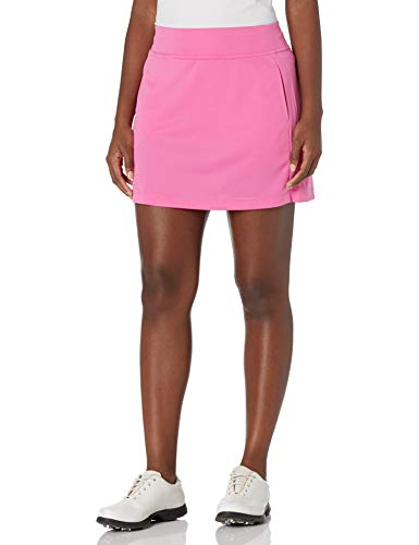 PGA TOUR Women's Standard 16 Inch Airflux Skort with Tummy Control Waistband, Super Pink, Large