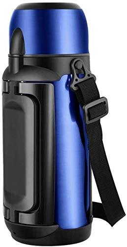 aislamiento térmico Taza De Aislamiento De La Jarra De Vacío, Taza De Aislamiento Del Hogar De Acero Inoxidable Al Vacío Para La Botella De Viaje De Automóviles De Gran Capacidad De Termo(Color:Blue)