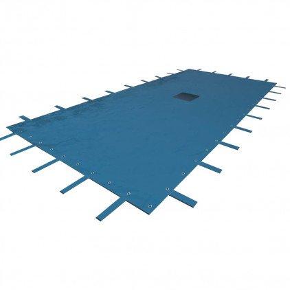 WerkaPro 02504 - Cubierta protectora 6 x 10 m - Para piscina rectangular - 140g / m2 - Marino