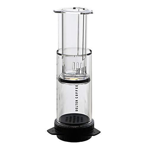 Delter Coffee - Cafetera de plástico para Viajes - BPA Gratis - 2/3 Tazas - 400 ml